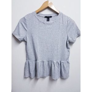Forever 21 Striped Cute Top Size Medium/Small